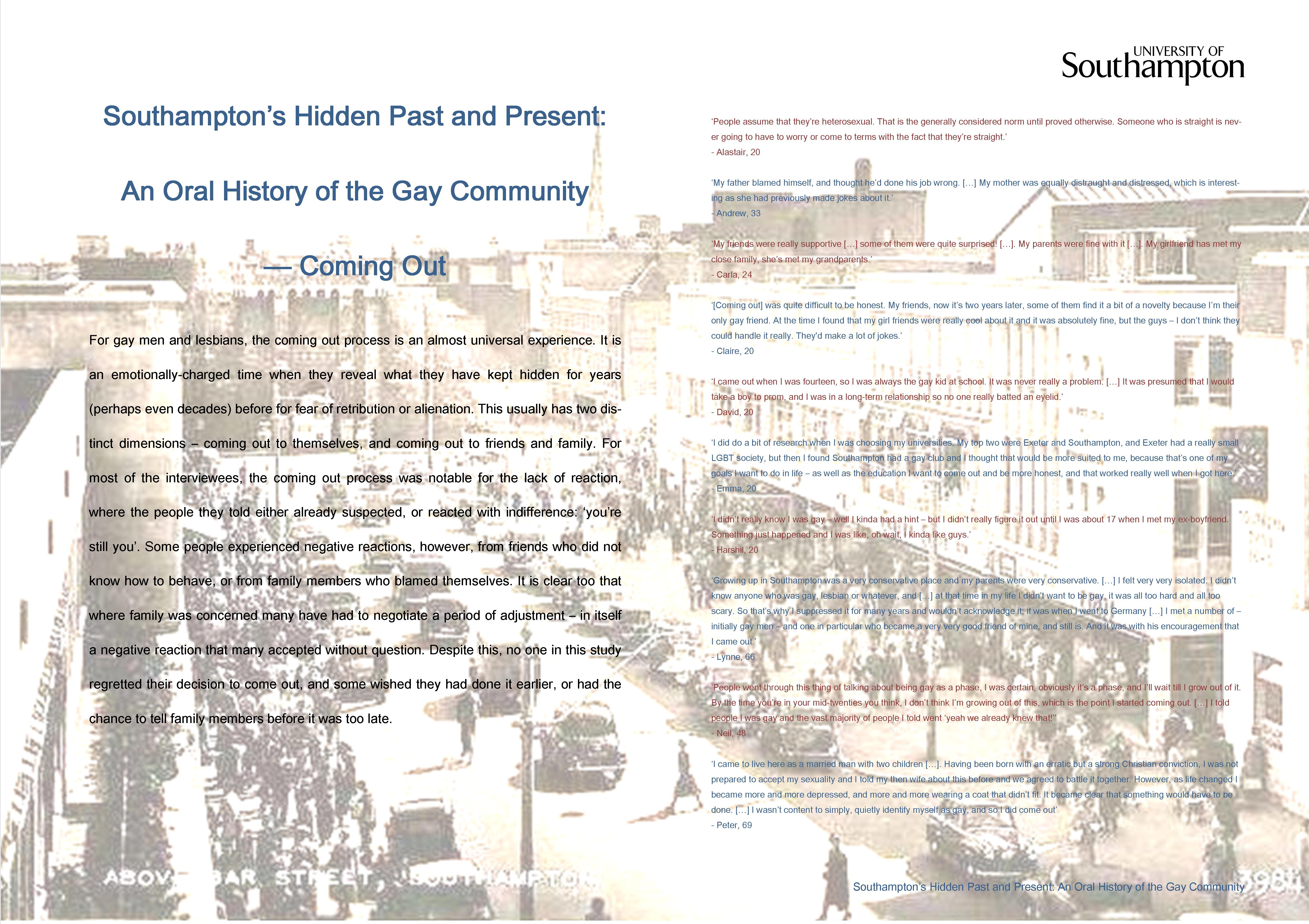 from Ismael history of gay community